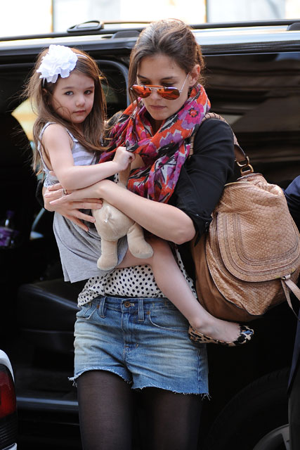 Katie Holmes and Suri Cruise - Easter out and about Gallery - Marie Claire