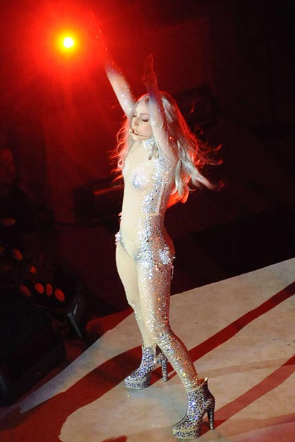 Lady Gaga performing at the 2010 Costume Institute Gala - MET Ball