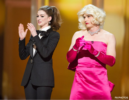 James Franco Anne Hathaway - WATCH! Oscars 2011 best moments - Oscars 2011 - Natalie Portman Oscar Acceptance Speech - Natalie Portman Pregnant - Melissa Leo - Anne Hathaway Oscars - The Oscars 2011 - Celebrity News - Marie Claire - Marie Claire UK