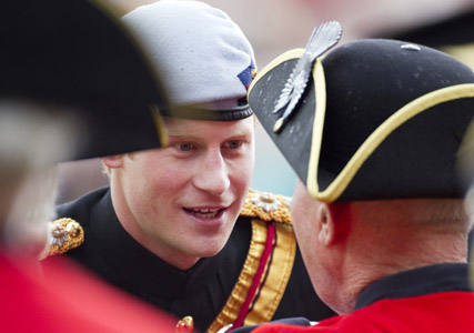 Prince Harry meets Chelsea Pensioners