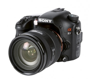 Sony Alpha 77 front
