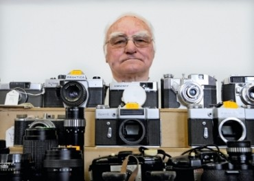 Peter White at a camera fair