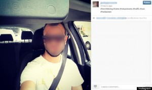 Instagram while driving