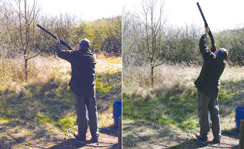Clay shooting stance