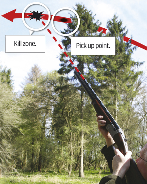 kill zone and pick up point in clayshooting