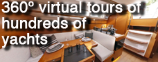360 virtual tours of hundreds of yachts